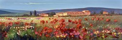 Rosso e Verde VI by Bruno Tinucci -  sized 47x16 inches. Available from Whitewall Galleries
